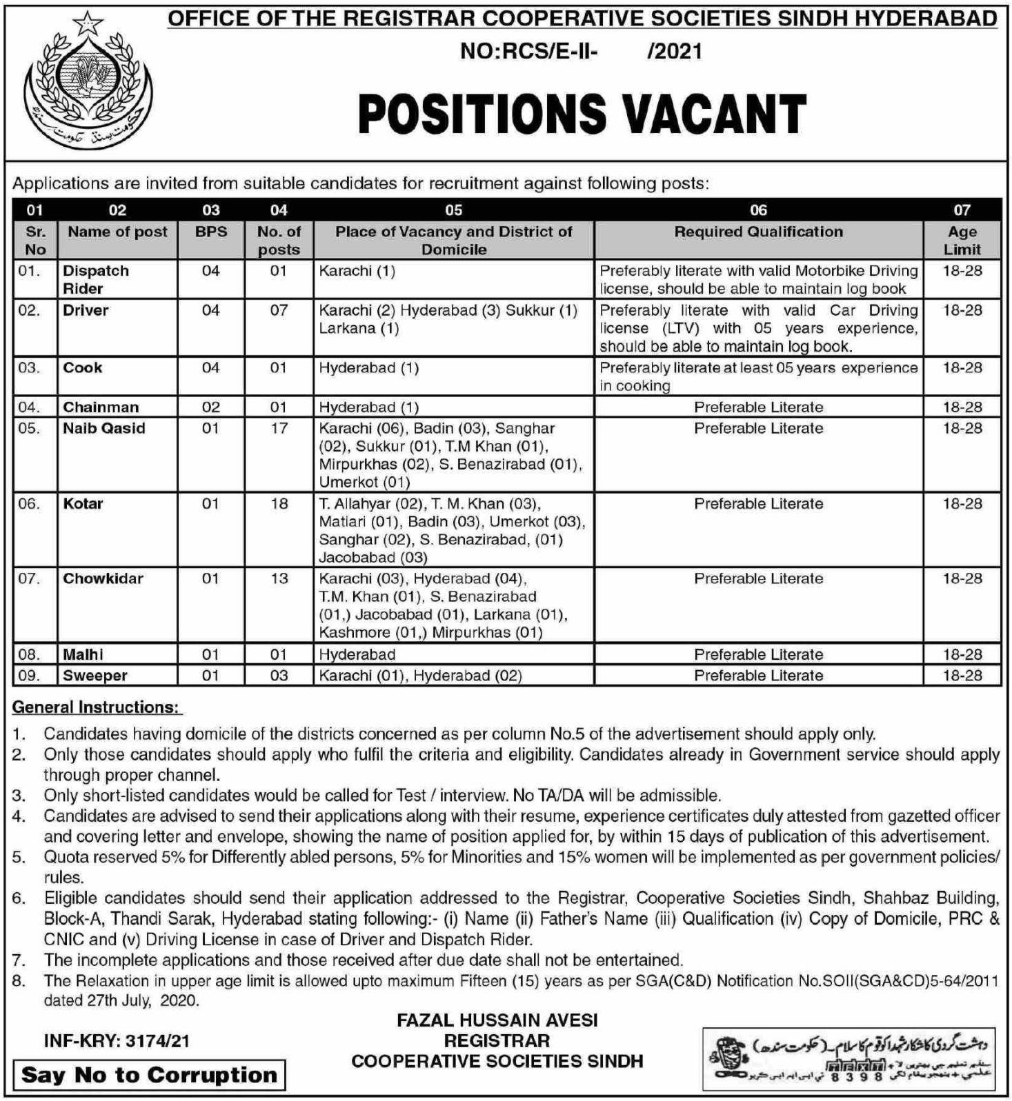 Cooperative Societies Sindh Vacancies 2021 Dailyjobs.pk 3