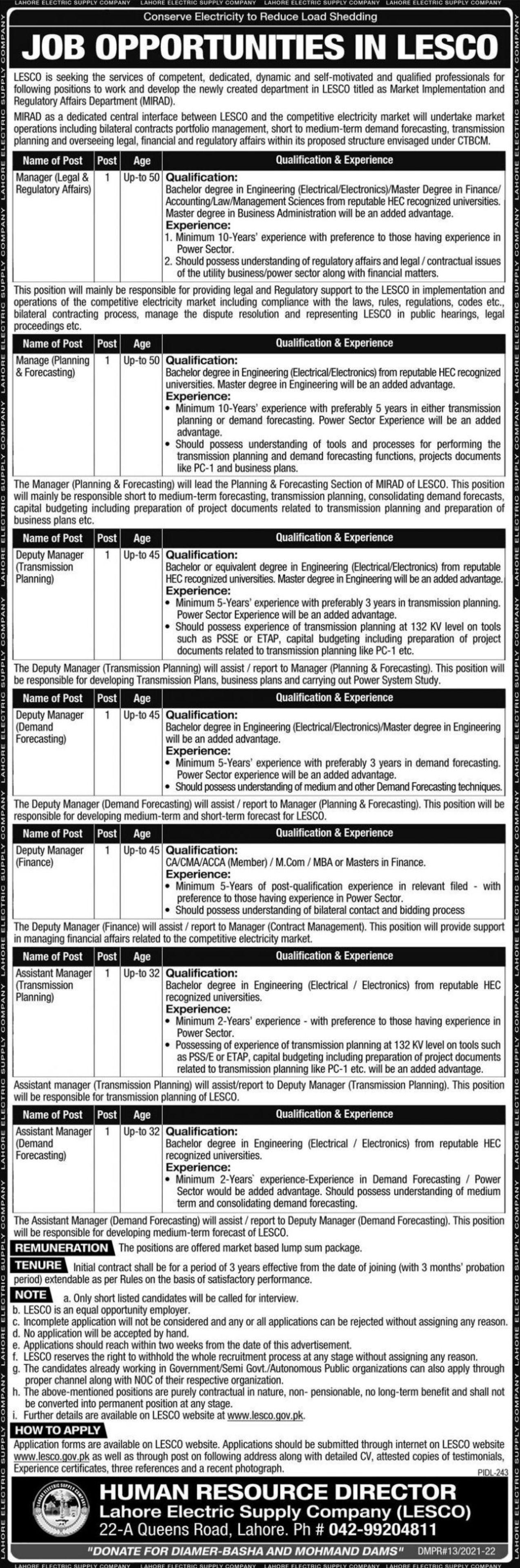 LESCO Vacancies 2021 | 3