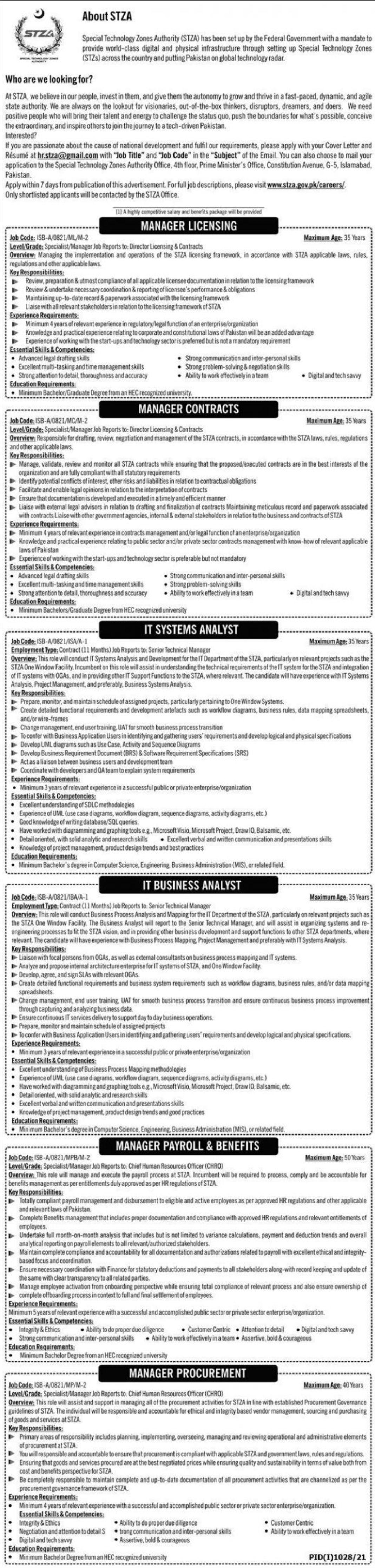 Special Technology Zones Authority Vacancies 2021 1