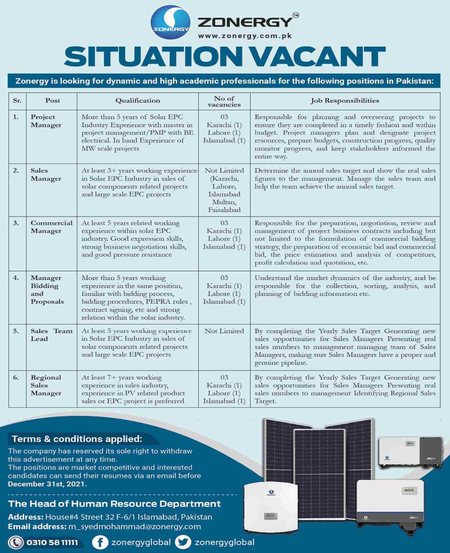 ZONERGY Vacancies 2021   Dailyjobs.pk 2