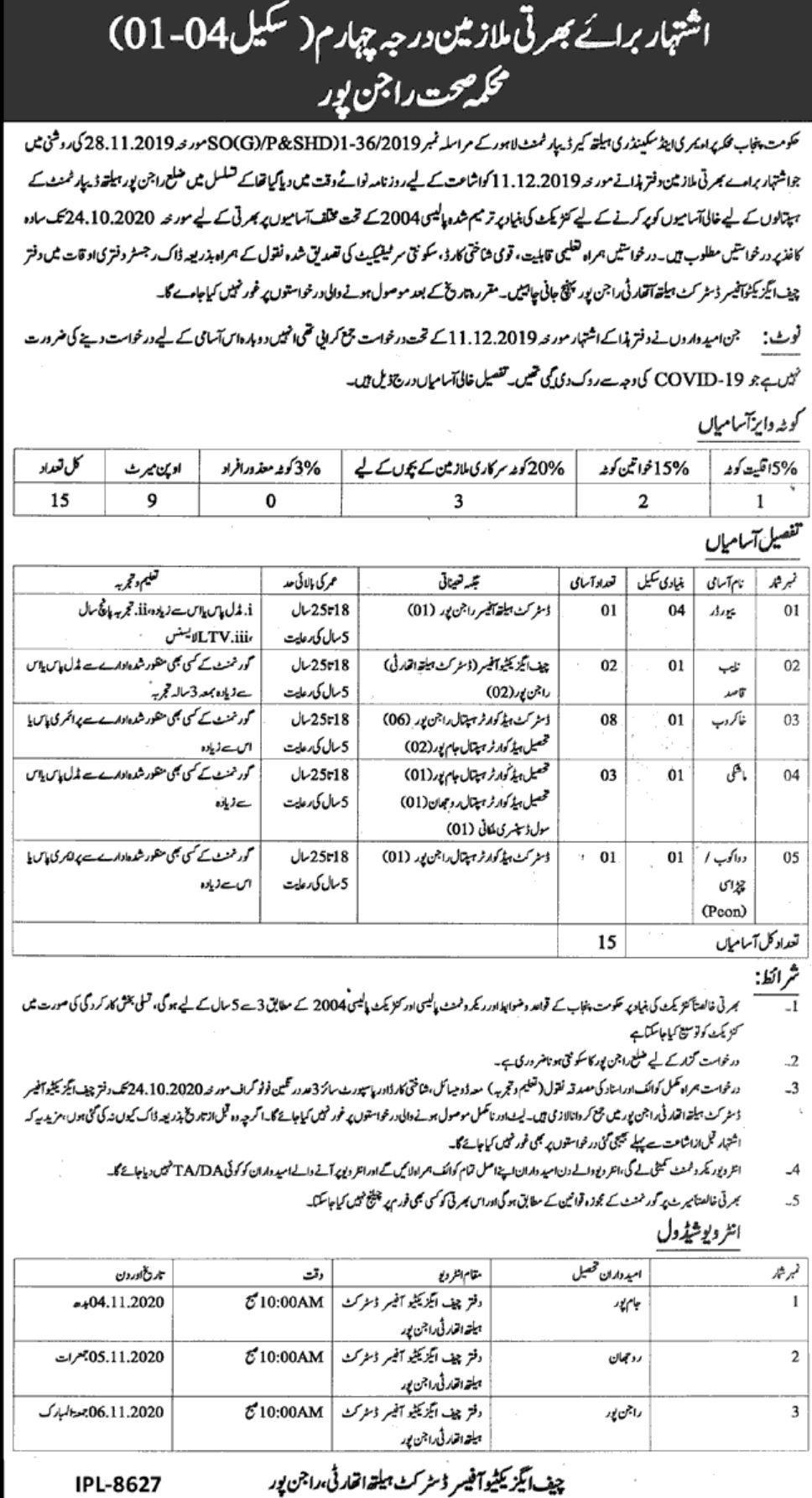 Government of the Punjab Primary & Secondary Health Care ...
