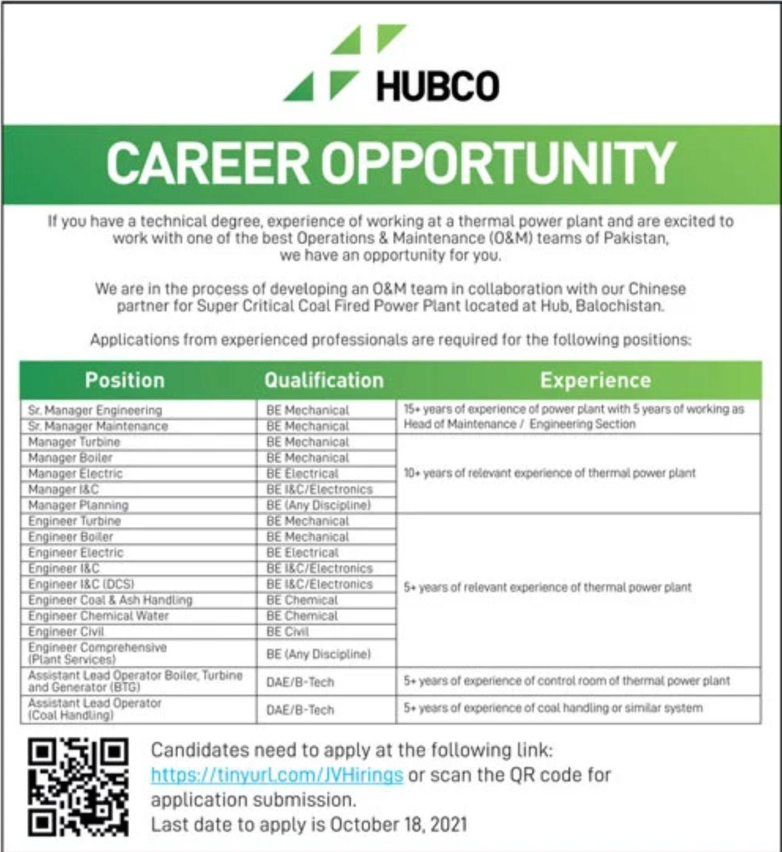 HUBCO Vacancies 2021 – Latest Jobs 3