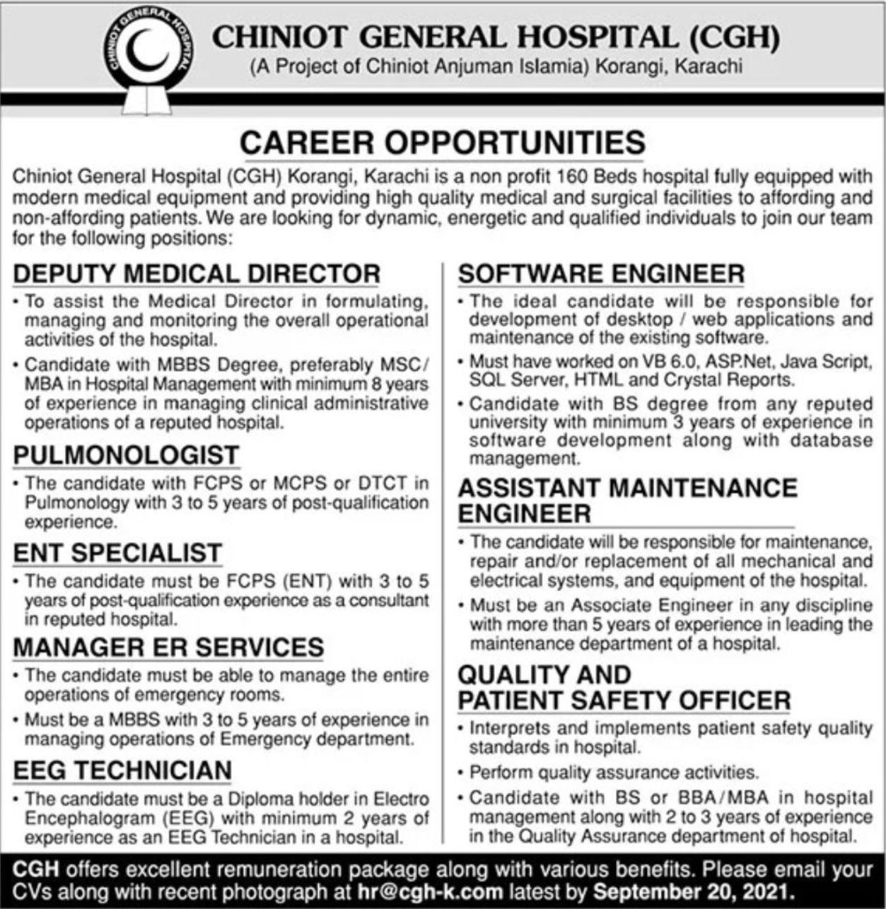 Chiniot General Hospital CGH Vacancies 2021 – Dailyjobs.pk 3