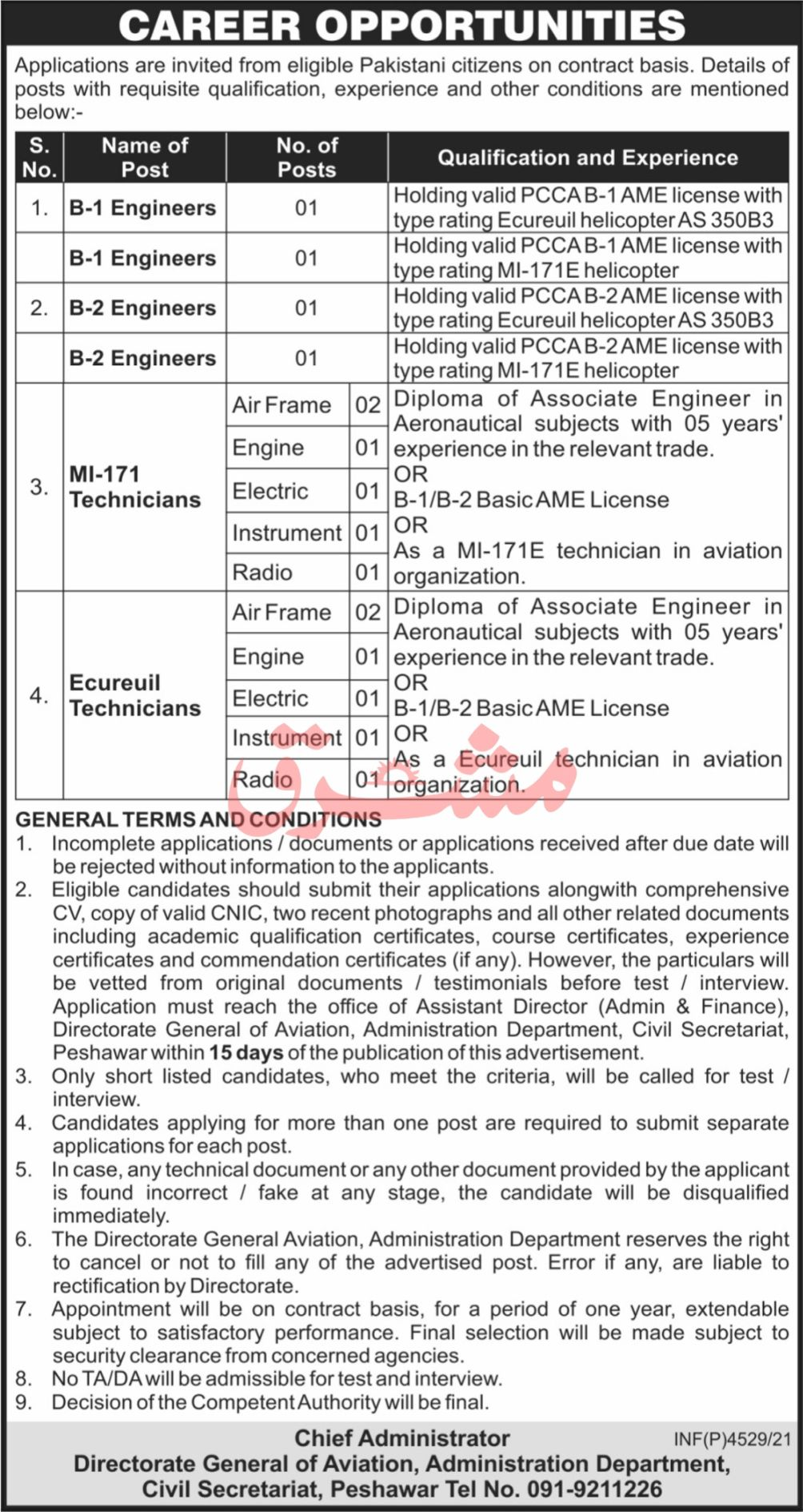Directorate General of Aviation Administration Department Peshawar Vacancies 2021 3