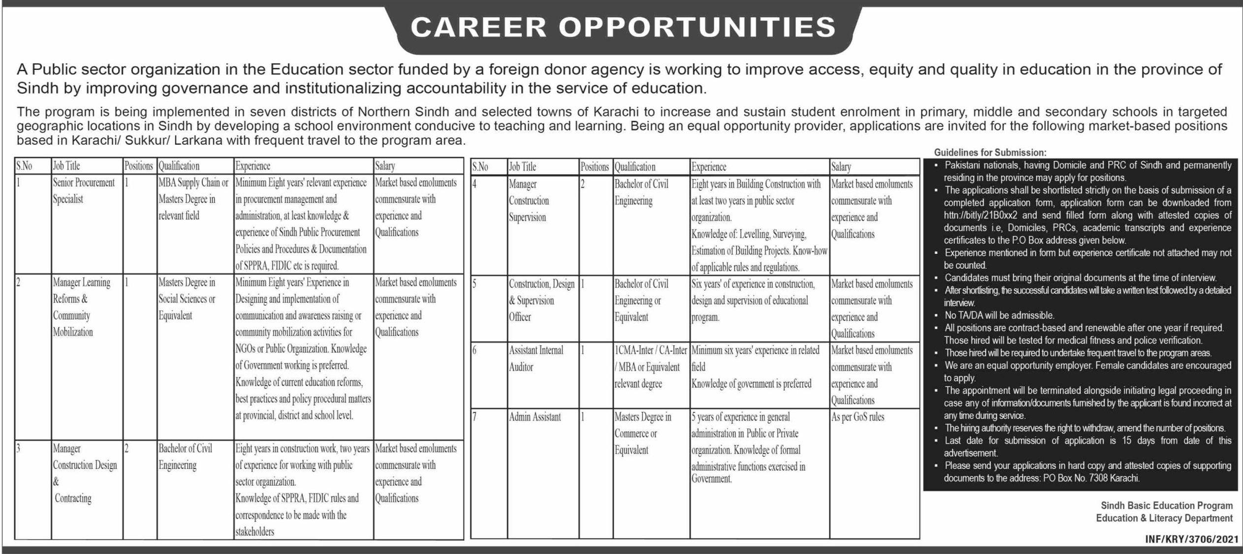 Education Sector Vacancies 2021 – Latest Jobs 3