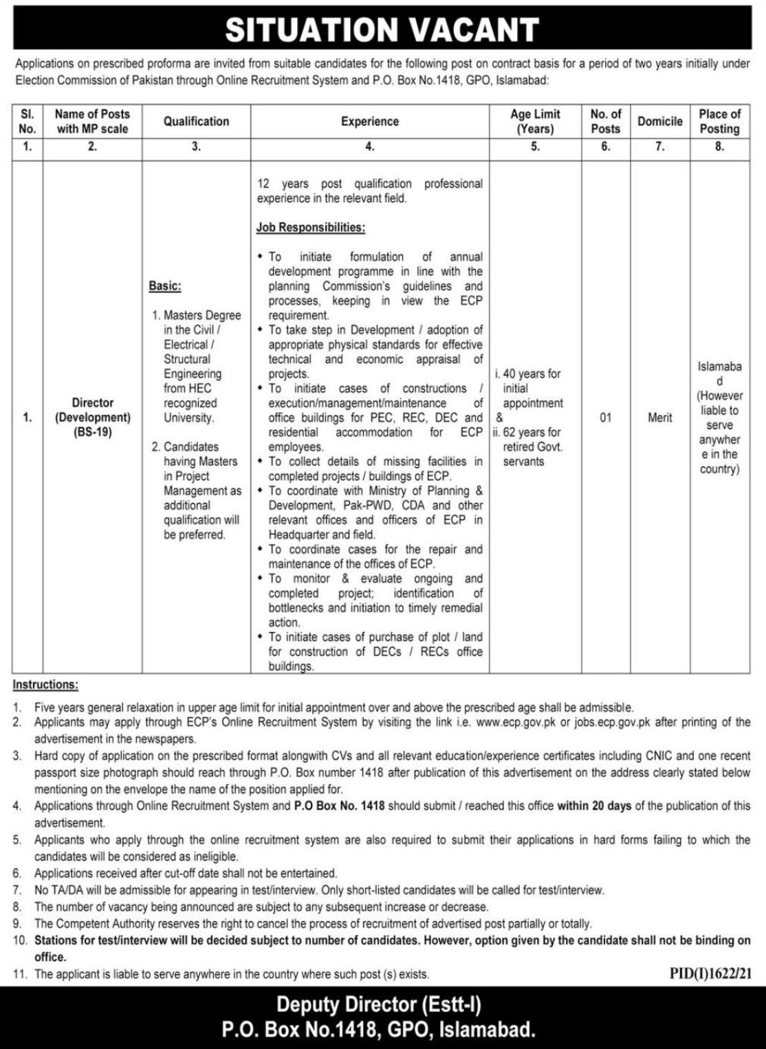 Election Commission of Pakistan Vacancies 2021 – Dailyjobs.pk 3