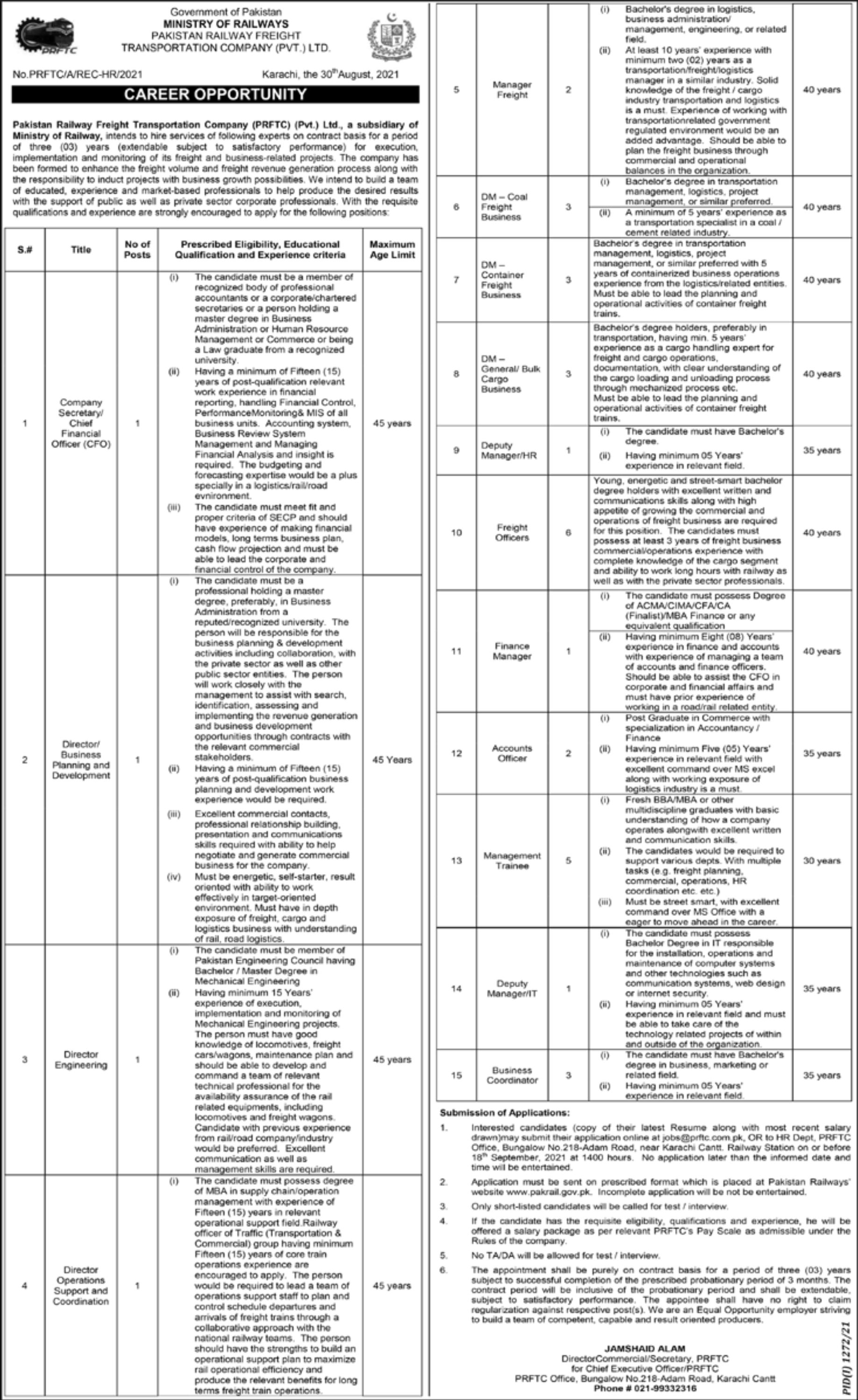 Ministry of Railways Vacancies 2021 3