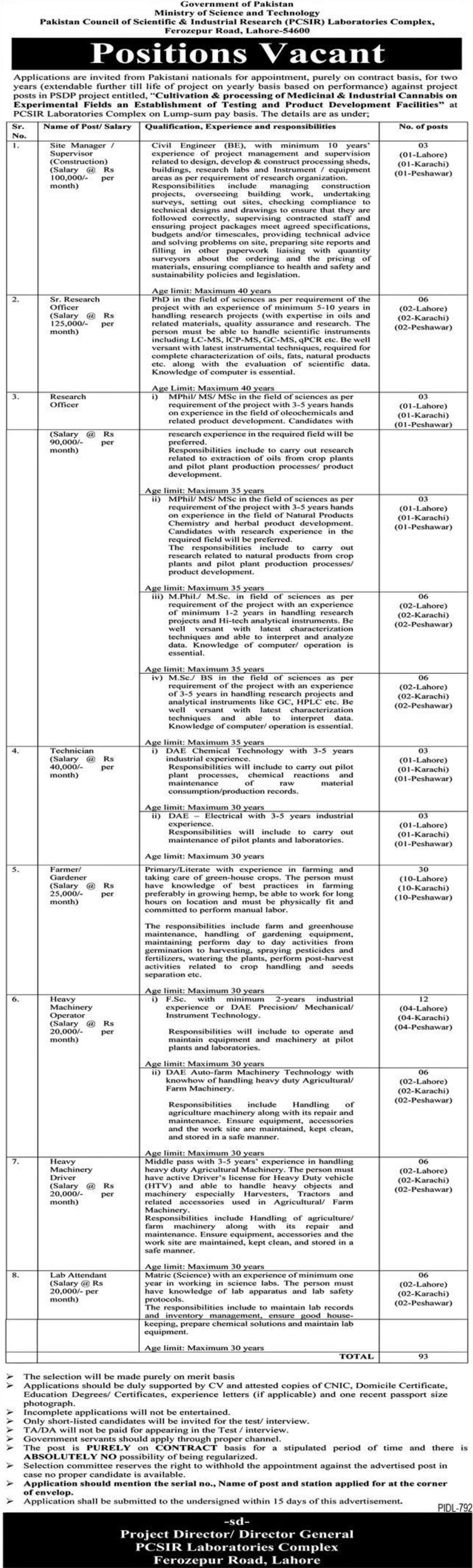 Ministry of Science and Technology Vacancies 2021 – Latest Jobs 3
