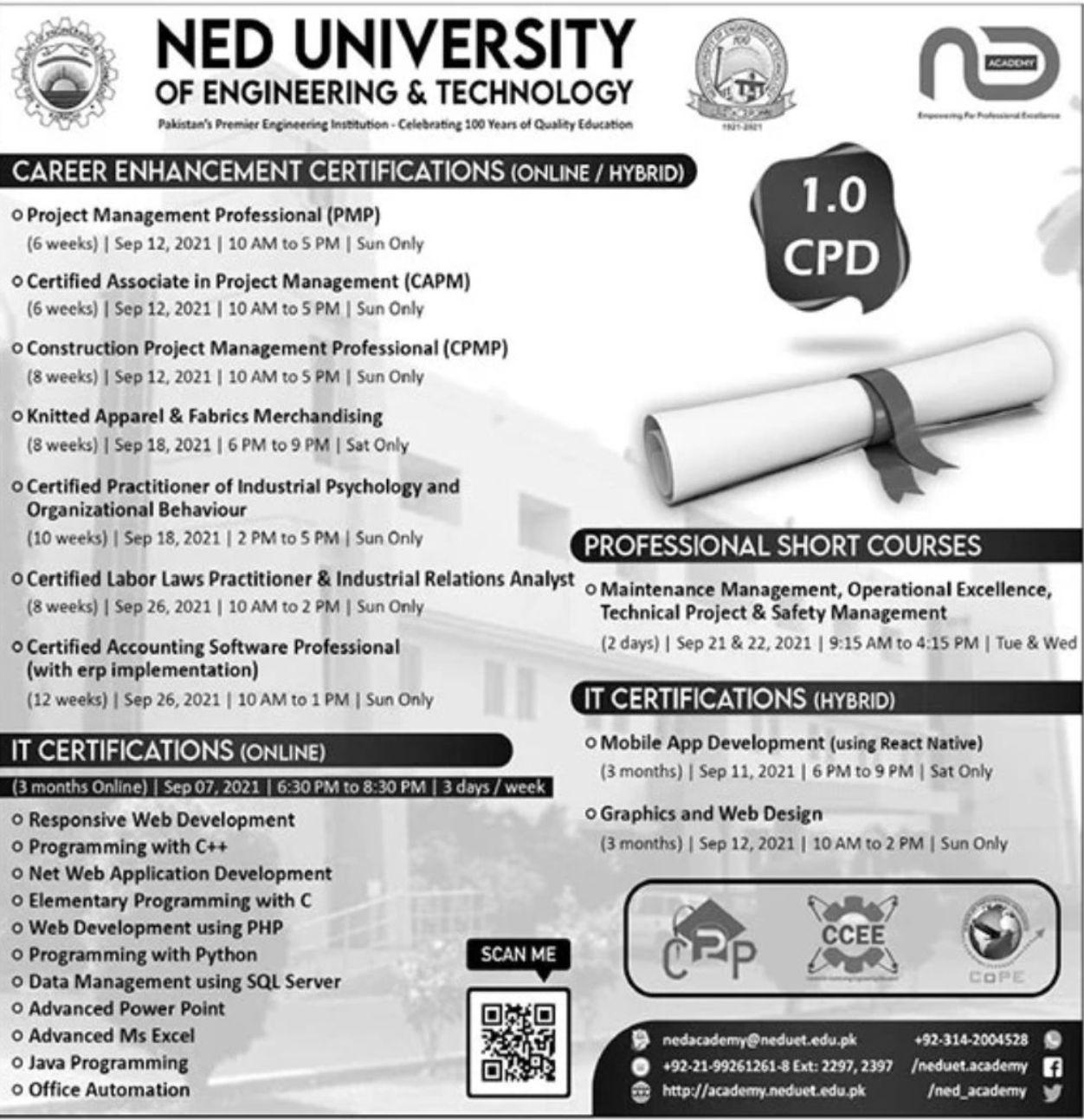 NED University of Engineering & Technology Vacancies 2021 3