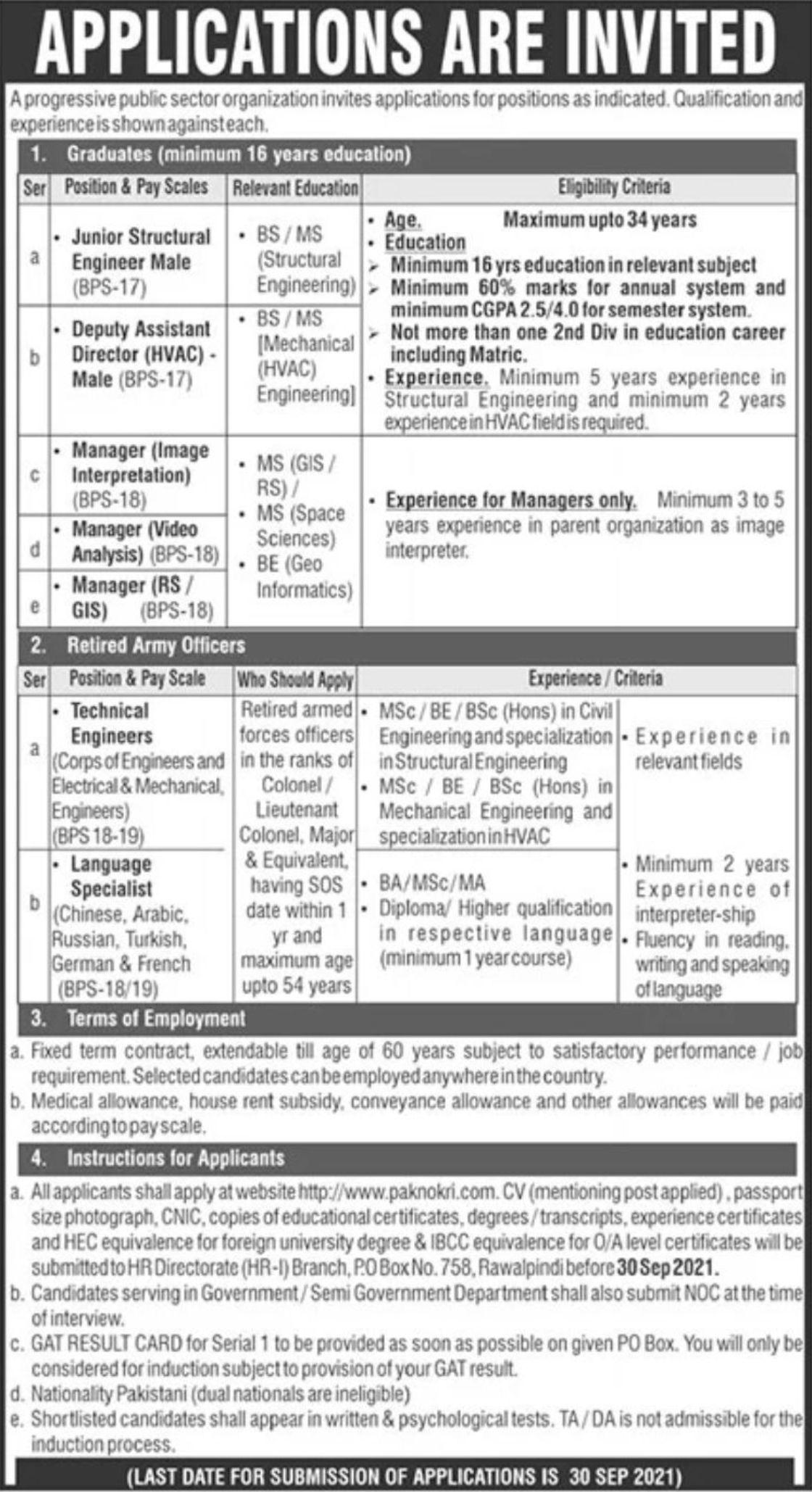 Progressive Public Sector Organization (PAEC) Vacancies 2021 – Dailyjobs.pk 3