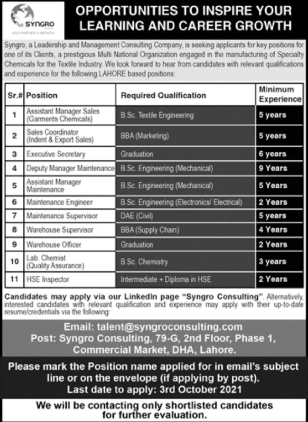 Syngro Leadership and Management Consulting Company Vacancies 2021 – Latest Jobs 3