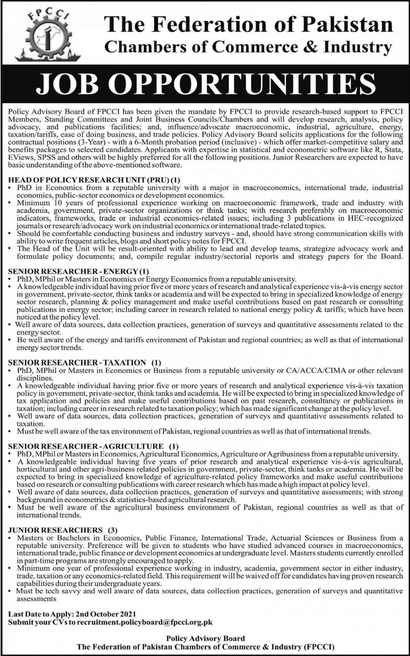 The Federal of Pakistan Vacancies 2021 – Dailyjobs.pk 3